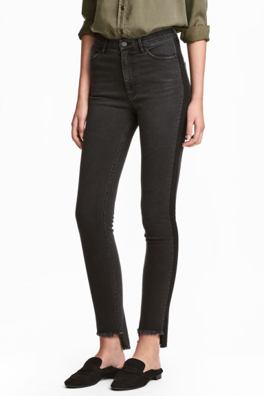 Slim High Ankle Jeans - Black denim - Ladies | H&M