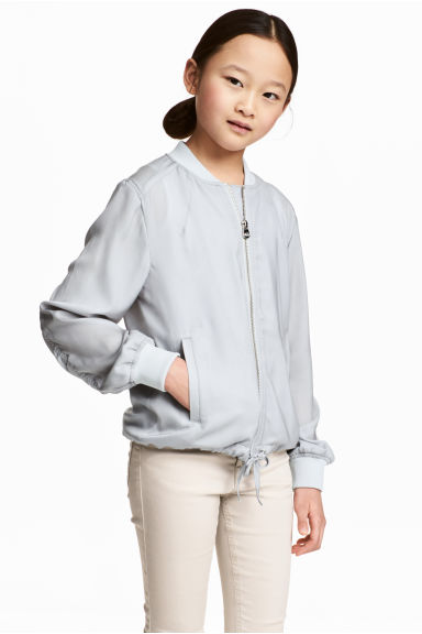 Light bomber jacket - Light grey - Kids | H&M 1