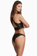 Lace bikini briefs - Black - Ladies | H&M 1