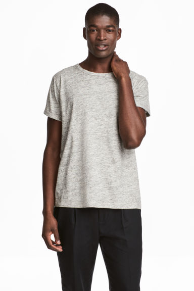 Slub jersey T-shirt - Grey marl - Men | H&M 1