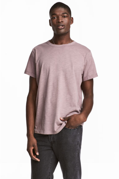 Slub jersey T-shirt - Light heather - Men | H&M CN 1