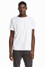 T-shirt in jersey flammé - Bianco - UOMO | H&M IT 1