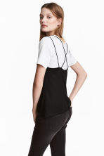 Strappy jersey top - Black - Ladies | H&M 1