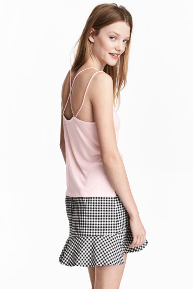 Strappy jersey top - Light pink - Ladies | H&M 1
