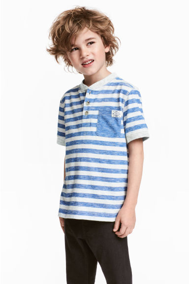 Henley shirt - Blue/White/Striped -  | H&M 1