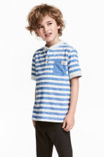 Henley shirt - Blue/White/Striped - Kids | H&M 1