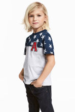 T-shirt con stampa - Blu scuro/stelle - BAMBINO | H&M IT 1
