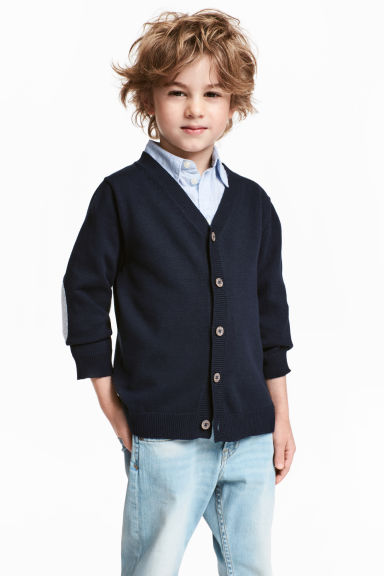 Fine-knit cardigan - Dark blue - Kids | H&M CN 1