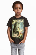 Printed T-shirt - Black/Godzilla - Kids | H&M CN 1