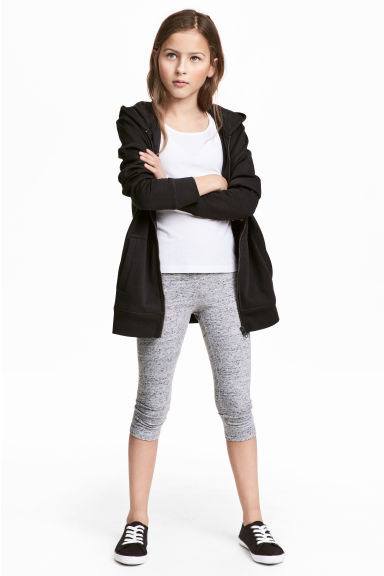 3/4-length leggings - Grey marl -  | H&M 1