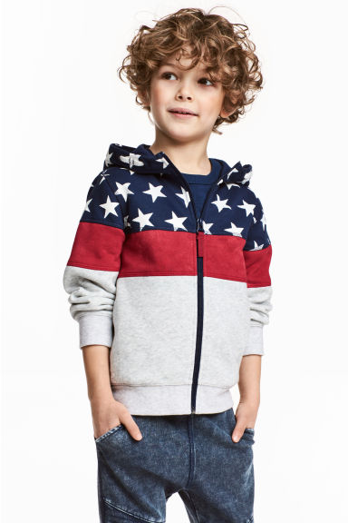Hooded jacket - Dark blue/Stars -  | H&M 1