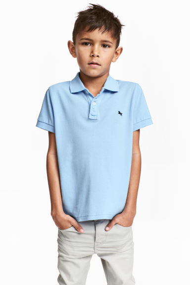 Polo in piqué - Azzurro -  | H&M IT