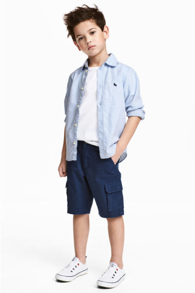 Cargo shorts - Dark blue - Kids | H&M CA