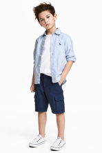 Cargo shorts - Dark blue - Kids | H&M 1