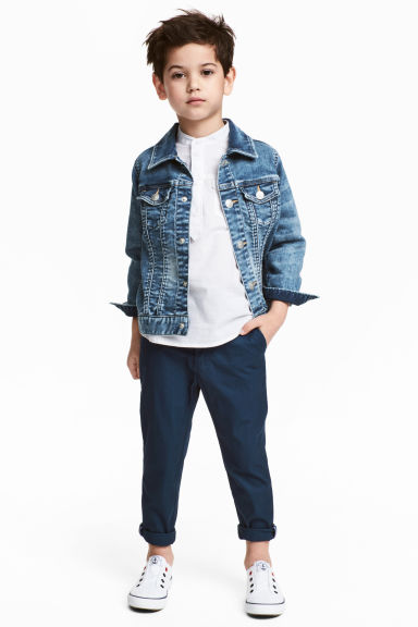 Cotton chinos - Dark blue - Kids | H&M 1
