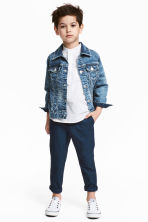 Cotton chinos - Dark blue - Kids | H&M CN 1