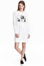 Sweatshirt dress - White - Ladies | H&M 1