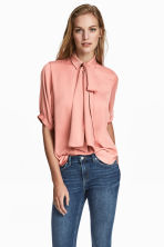 Pussybow blouse - Powder pink - Ladies | H&M 1