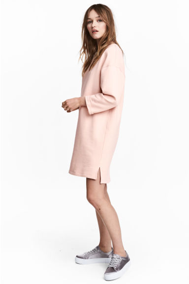Sweatshirt dress - Powder pink - Ladies | H&M