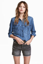 Lyocell utility shirt - Denim blue - Ladies | H&M 1