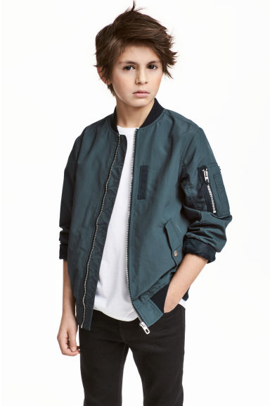 Bomber jacket - Dark blue-green - Kids | H&M CN 1