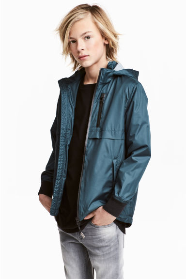 Fully lined jacket - Dark blue-green - Kids | H&M 1