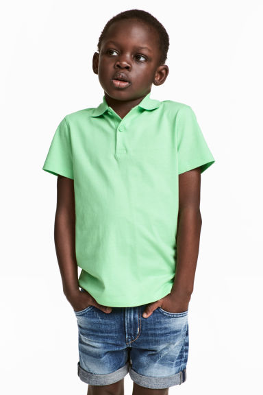Polo shirt - Light green -  | H&M CA 1