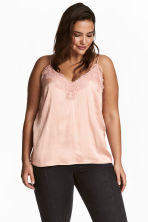 H&M+ Top in satin - Rosa cipria - DONNA | H&M IT 1
