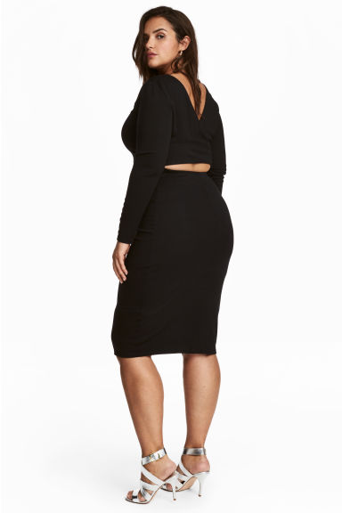 H&M+ Jersey dress - Black - Ladies | H&M 1