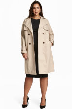 H&M+ Trenchcoat - Light beige - Ladies | H&M 1