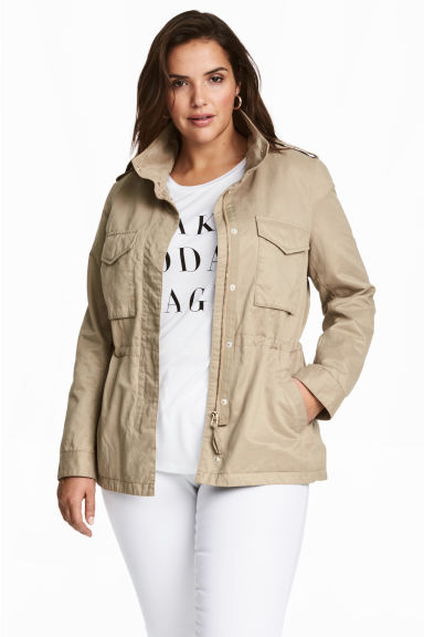 H&M+ Cargo jacket - Light beige - Ladies | H&M CN 1