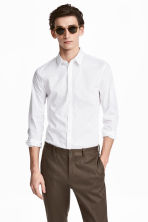 Stretch shirt Slim fit - White - Men | H&M CN 1
