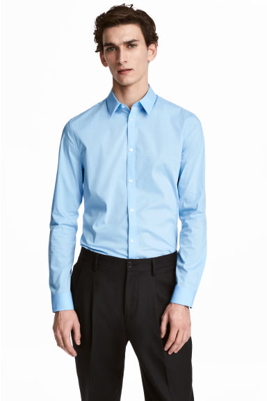 Stretch shirt Slim fit - Blue - Men | H&M CN