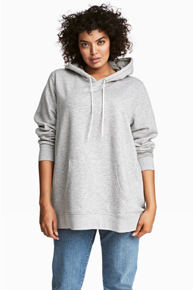 H&M+ Hooded sweater - Light grey marl - Ladies | H&M 1