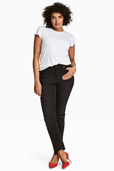 H&M+ Straight Regular Jeans - Denim nero - DONNA | H&M IT