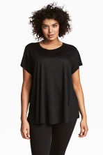 H&M+ Top in jersey - Nero - DONNA | H&M IT 1