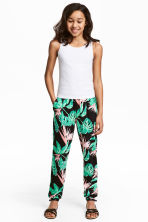 Harem pants - Black/Leaf - Kids | H&M CN 1