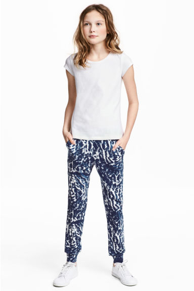 Harem pants - Dark blue/White - Kids | H&M CN