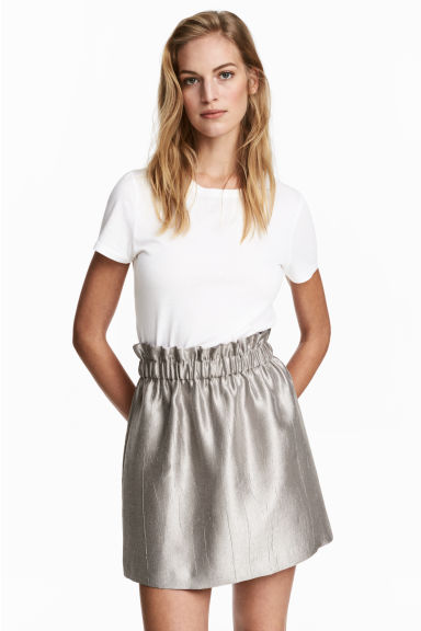 Crinkled skirt - Silver - Ladies | H&M CN 1