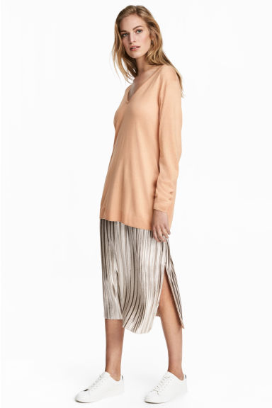 Pleated skirt - Silver -  | H&M GB 1