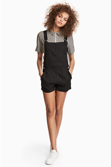 Dungaree shorts - Black - Ladies | H&M CN