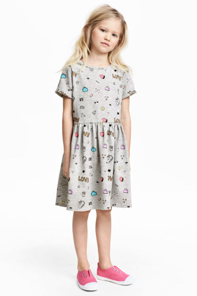 Sweatshirt dress - Grey marl - Kids | H&M 1