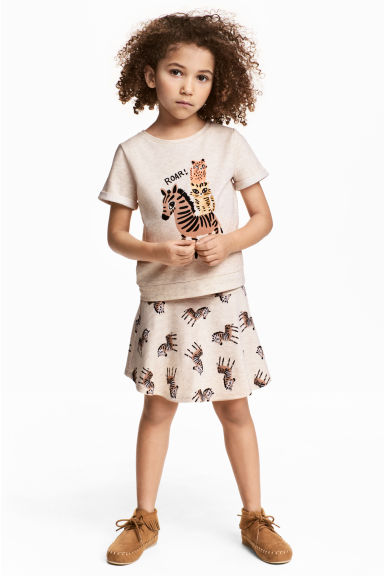 上衣和短裙 - Light beige - Kids | H&M 1