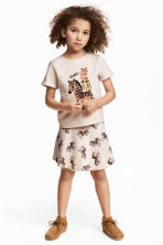 Top e gonna - Beige chiaro - BAMBINO | H&M IT 1