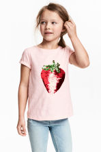Top a maniche corte - Rosa chiaro/fragola -  | H&M IT 1