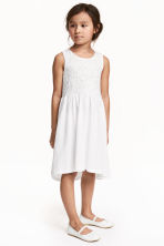 Jersey dress - White - Kids | H&M CN 1