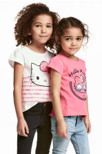 2-pack jersey tops - Pink/Hello Kitty - Kids | H&M 1