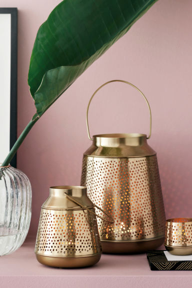 Metal candle lantern - Gold - Home All | H&M CN 1
