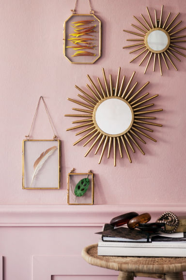 Round mirror - Gold - Home All | H&M GB 1