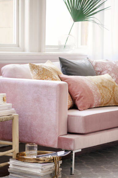 Patterned cushion cover - Dusky pink - Home All | H&M CN 1